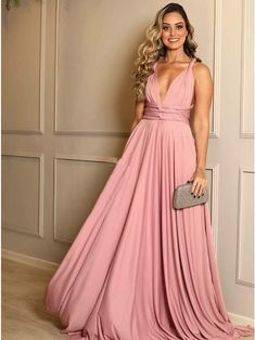 Pink Prom Dress Chiffon Evening Dresses A-Line Prom Dresses V-Neck Prom Gown Formal Dresses Cheap Prom Gowns Cheap Formal Dresses, Black Prom Dresses, A Line Prom Dresses, Prom Gowns, Elegant Dresses, Bridesmaid Dresses, Wedding Dresses, Chiffon Evening Dresses, Chiffon Dress