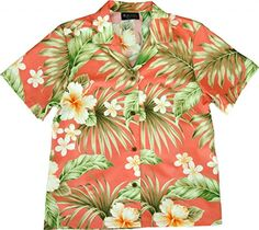 Hibiscus Summer Womens Hawaiian Shirt  Hawaiian Shirts  Aloha Shirt Hawaiian Clothing >>> Click on the image for additional details.