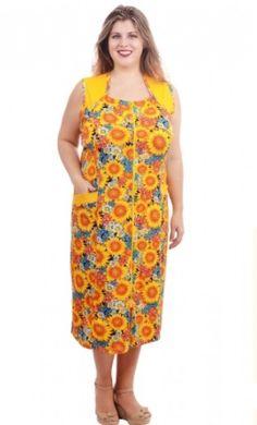 Яркий летний хлопковый женский халат без рукавов большого размера (60 - 68)| pravtorg.ru Summer Dresses, Fashion, Summer Sundresses, Moda, Sundresses, Fashion Styles, Fashion Illustrations, Summer Outfits