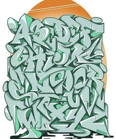 Graffiti Lettering Alphabet, Graffiti Writing, Tattoo Lettering Fonts, Graffiti Font, Graffiti Artwork, Graffiti Styles, Name Drawings, Cherry Tattoos, Graphic Design Fonts