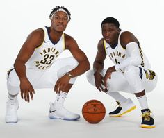 43b0bd356a57 Victor Oladipo Brings Out Air Jordan 32 Low PE In Pacers Colorway For Media  Day