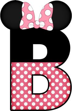 Arte Do Mickey Mouse, Mickey Minnie Mouse, Letter Door Hangers, Disney Alphabet, Minnie Png, Alphabet And Numbers, Letter Symbols, Birthday Images, 2nd Birthday Parties