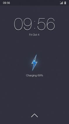 Nice lockscreen UI - Especially the charging animation - design