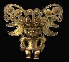 Pre-Colombian.These are breastplates in the form of birds of prey or shaped like a double spiral, necklace beads and carved stone ornaments, but there is also a complex system of towns and satellite villages there, with stone foundations and linked together by paths