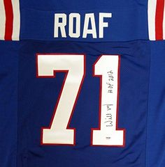 Louisiana Tech Willie Roaf Autographed Signed Blue Jersey hof 2012  PSADNA Certified  Autographed NFL Jerseys -- Check this awesome product by going to the link at the image. (This is an affiliate link and I receive a commission for the sales)