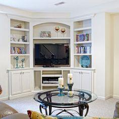 Built In Tv Design Ideas, corner unit!