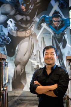 Jim Lee, comic book artist, creator and executive of Wildstorm Studios. Comic Book Artists, Comic Artist, Comic Books Art, Jim Lee Batman, Batman Hush, Hulk, Dc Comics, Jim Lee Art, Batman Drawing