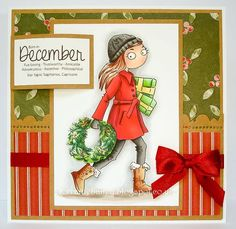 Thoroughly Modern Misses - Lili of the Valley DT Birthday Month, Birthday Cards, Card Making Tips, Hobby House, Digi Stamps, Lily Of The Valley, Christmas Ornaments, Christmas Ideas, December