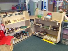 Small World provision in my classroom. Resources are added to enhance learning, this is our continuous provision.