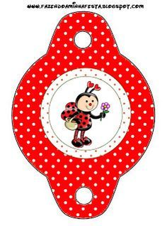 Little Red Riding Hood Party : Free Party Printables. Ladybug Crafts, Ladybug Party, Crafts To Sell, Diy And Crafts, Red Riding Hood Party, Little Red Ridding Hood, Class Decoration, Bag Toppers, Craft Bags