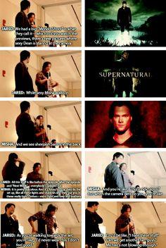 "Misha and Jared about the ""Mondo Shoot"""