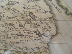 English: Xanadu (here spelled Xandu) on a map of Asia made by Sanson d'Abbeville, geographer of King Louis XIV, dated 1650. This map shows C...