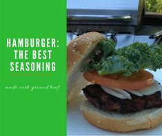 Best Hamburger Seasoning - Clover Meadows Beef It's easy to make a good hamburger every time. All you need is good meat and the best hamburger seasoning. Here's one of our go-to hamburger seasoning recipes. Hamburger Seasoning Recipe, Best Burger Seasoning, Best Hamburger Recipes, The Best Burger, Good Burger, Burger Food, Well Done Burger, All You Need Is, Perfect Hamburger