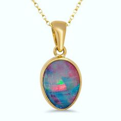 "The Lost Sea Opals ""Pink Dream"" pendant is our latest obsession... #lostseaopals #opal #lightningridge #gemstone #gold #design #designer #jewellery #green #blue #pink #blackopal #beautifulthings #pendant #favourite #custom #creation #yellowgold"