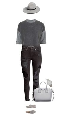 """When you decide to wear it really distressed !"" by azzra on Polyvore featuring Topshop, Emanuela Passeri, Givenchy, rag & bone, Larsson & Jennings, women's clothing, women, female, woman and misses"