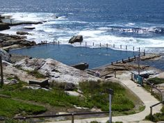 One of my favourite Sydney rock pools, Mahon Pool just north of Maroubra Beach has that natural feel set among the rocks but big enough for decent lap swims Lap Swimming, Outdoor Swimming Pool, Sydney Beaches, Beach Bath, Rock Pools, New Zealand Travel, Sydney Australia, Ocean, River