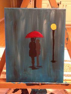 Lovers in the rain Rain, Lovers, Paintings, Simple, Painting, Draw, Rain Photography, Portrait, Resim