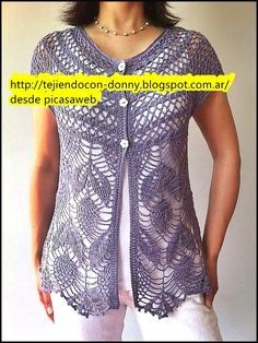 Crochet woman's cardigan - front view