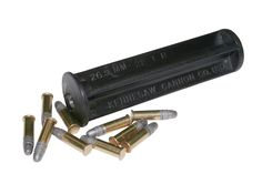 The Sub-Caliber Flare Gun Insert is perfect for boaters, campers or hikers. Our insert simply slides into your flare gun to allow you to fire rimfire ammunition. The rifled steel barrel is in encased in a 410 Shotgun, Survival Cache, Bug Out Gear, Ammo Cans, Doomsday Prepping, Steel Barrel, Hunting Guns, Guns And Ammo, Cannon