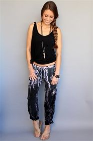 Channel your inner gypsy in these Dark Lizard Ombre Washed Silk Pants by Hard Tail. Shop now at Rosie True. #spring #tiedye #gypsy