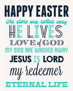 Easter Subway Art Free Printable Decor