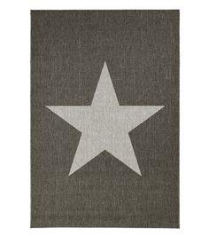 70e, 160x230 Star-yleismatto, harmaa