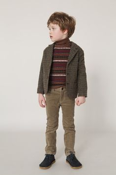 Tweed jacket and knitted sweater - Caramel Baby & Child