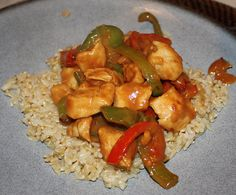 Chicken Stir Fry with Spicy Peanut Sauce