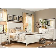 Cottage Town White 5 Pc King Panel Bedroom