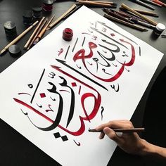 Calligraphy of Alphabets & Fonts Calligraphy Lessons, Calligraphy Wallpaper, Calligraphy For Beginners, Arabic Calligraphy Design, Arabic Calligraphy Art, Arabic Art, Calligraphy Alphabet, Quran Wallpaper, Islamic Paintings
