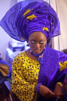 Lovely Nigerian Traditional Brides In Gele - My Nigerian Wedding African Attire, African Wear, African Women, African Dress, African Fashion, Ghanaian Fashion, African Style, Nigerian Bride, Nigerian Weddings