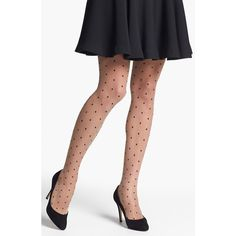 ab3df9f312f04 Nordstrom 'Sheer Dot' Control Top Pantyhose ($7.37) ❤ liked on Polyvore  featuring intimates, hosiery, tights, transparent tights, panty hose  stockings, ...