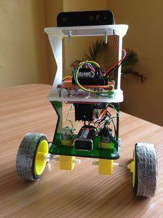 arduino self-balancing robot assembled