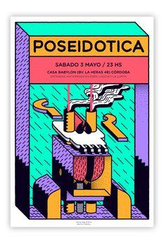 Poseidotica cartel by Hernán Gallo, via Behance