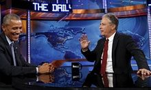 'Jon Stewart cannot leave' - Obama says goodbye on The Daily Show | US news | The Guardian