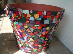 mosaic flower pot by Marie Lloyd