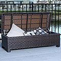 Santiago Brown Wicker Storage Ottoman