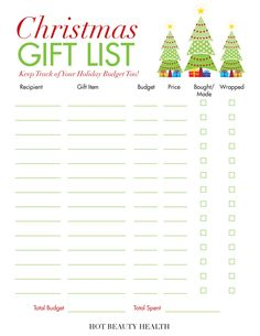 Holiday Gift Guide Gift Ideas for Women, Men & Kids! Here's a free Christmas Gift List printable that you Christmas Gift You Can Make, Trending Christmas Gifts, Easy Diy Christmas Gifts, Christmas Gift Guide, Holiday Gifts, Christmas Time, Merry Christmas, Xmas, Christmas List Template