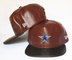 bb597310f96 Dallas Cowboys Metal Logo Snapbacks Hats Leather Brown Black cheap for  sale