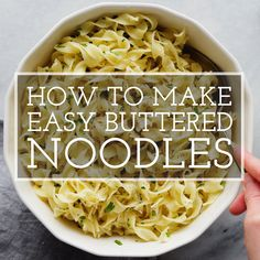 Healthy Noodle Recipes, Egg Noodle Recipes, Egg Recipes, Butter Noodle Recipe, Buttered Egg Noodles Recipe, Egg Noodle Dishes, Pasta Dishes, Food Dishes, Sunday Suppers