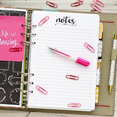 A5 planner insert printable - notes
