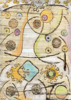 """RINALDI-PALADINO ART MUSEUM FOUNDATION, at the Gottardo Bank   (Lugano - Switzerland) - acquisitioned the painting entitled """"Strange perceptions"""" - Oil and coffee on canvas, 70x50cm (2008)pRINALDI-PALADINO ART MUSEUM FOUNDATION, presso Banca del Gottardo  (Lugano - Svizzera) - L'Art Museum Foundation Rinaldi-Paladino ha acquisito il dipinto """"Strane percezioni"""" - Olio e caffè su tela, 70x50cm (2008)"""