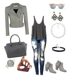 """""""fall casual"""" by savannah-newman ❤ liked on Polyvore featuring IRO, Le Specs, rag & bone, RVCA, Carolee and MICHAEL Michael Kors"""