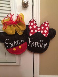 My burlap disney door hanger to hang on our disney cruise stateroom door! Made by LaShea Davis ;)