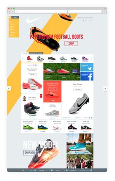 Nike Shop Redesign on Behance