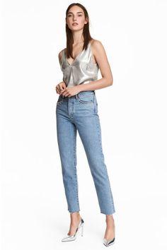 Vintage High Jeans - Açık kot mavisi - KADIN | H&M TR 1