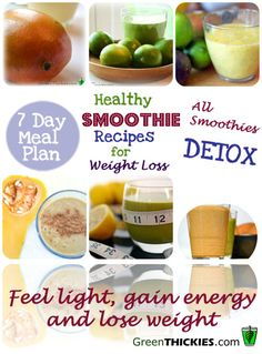 Healthy #detox smoothie recipes for #weightloss