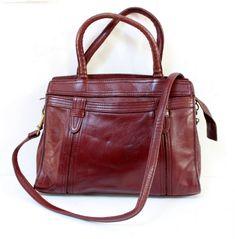 Sac vintage cuir bordeaux www.lamerelipopette.com