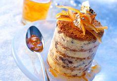 Mille-feuilles glacés aux raisins et au pain d'épiceVoir la recette desMille-feuilles glacés aux raisins et au pain d'épice >>