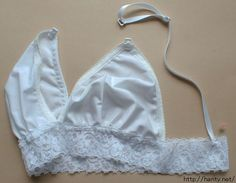 DIY bralette. I hate wearing regular bras and these look so comfy just to lounge around in.